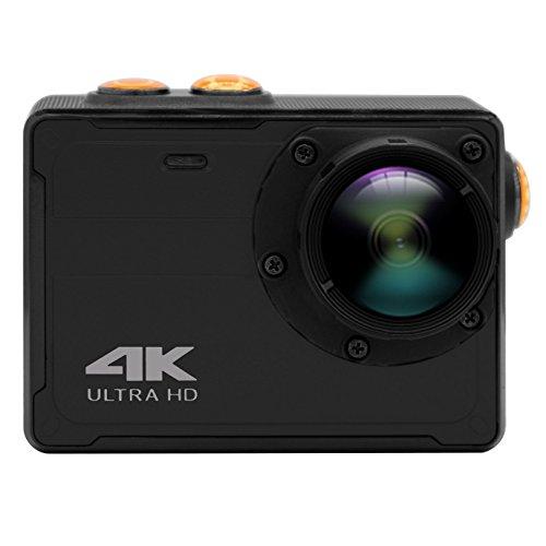Powmax Videocamera sportiva, WW-16, 4K, WiFi, Action Camera subacquea fino a 10m, 16MP, impermeabile, mini DV, utilizzabile senza custodia impermeabile (nera)