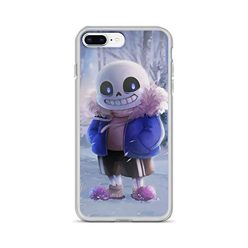 Beamm-Frost Compatible with iPhone 7 Plus/8 Plus Case Undertale Skull Smile Horror American Indie Game Pure Clear Phone Cases Cover