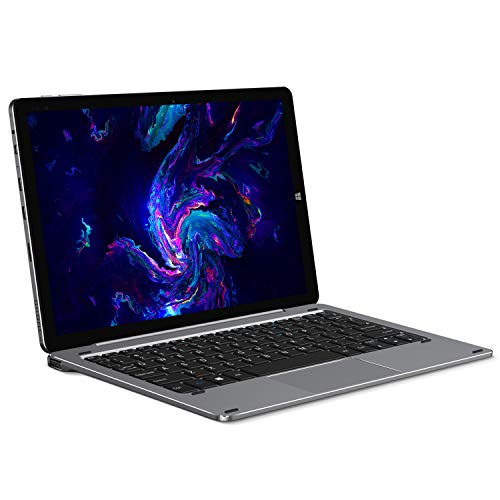 CHUWI Hi10 X Tablet with Keyboard, 10.1 inch Windows 10 Tablet PC 2 in 1, Intel N4100 Quad-core, 6GB LPDDR4 128GB eMMC, 1920x1200 FHD IPS Display, 2xType-C, BT5.0, Dual Wi-Fi, Dual Cameras(Space Gray)