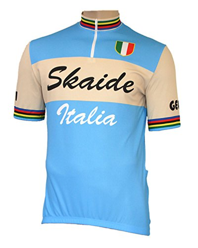 Skaide Ciclismo Italia Retro - Maillot de ciclismo (tallas S a 6XL)...