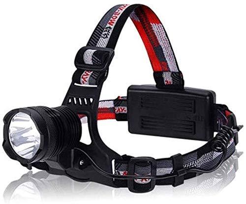 Beirich Linternas de Faro Recargable, Faros LED para Adultos, con lámpara de Cabeza Ajustable, Impermeable, Correr/Pesca/Exteriores/Senderismo/Camping/minería, Negro/Rojo