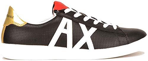 ARMANI EXCHANGE AX Box Sole Sneakers, Scarpe da Ginnastica Basse Uomo, Nero (Black+White Logo 00002), 45 EU