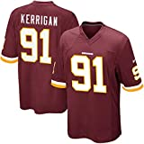 Maillot de rugby pour homme, 91 # Ryan Kerrigan Washington Redskins Maillot de football américain en coton absorbant la transpiration -  - X-Large