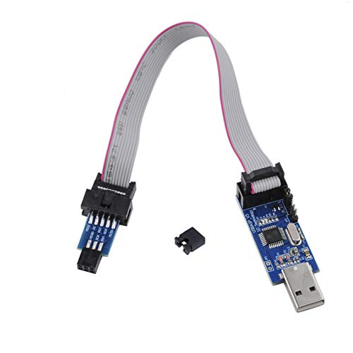 DIYmall USBASP Programmierer AVR Downloader 10pin auf 6pin Adapter Flash Tool USB ISP Burn Bootloader 51 AVR ATMEGAA8 mit Jumper Cap für Arduino Ender 3 Pro 5V/3.3V