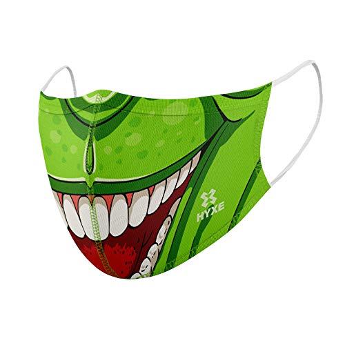 HYXE Premium Kids Community-Maske, Mund- & Nasenmaske, hochwertige Alltagsmaske, waschbar bis 90°, 3-lagig, Filtertasche & Nasenbügel, unisex, Made in Germany, stylische Modemaske
