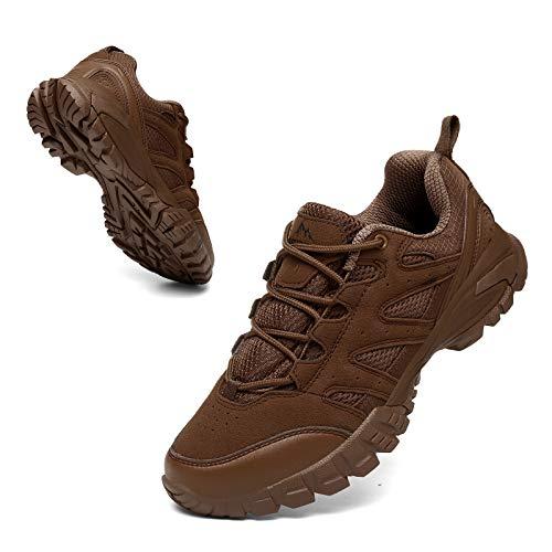 Zapatillas Trekking Hombres Calzado Mujer Senderismo Montaña Deportivas Trail Running Deporte Zapatos Antideslizante Ligeras Respirables Unisex Marrone 43
