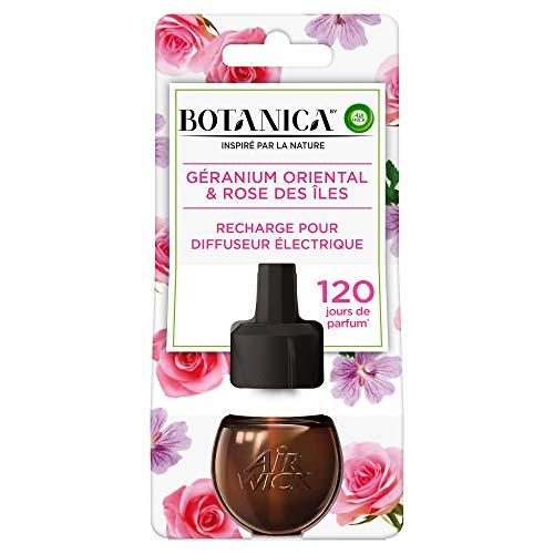 Air Wick Botanica Désodorisant Maison Recharge Electrique Géranium/Rose 19 ml