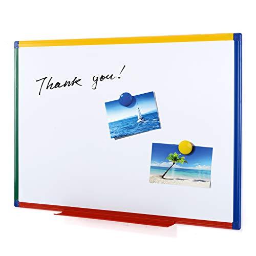 Swansea Whiteboard Magnettafel mit Bunte Rahmen für Wohnzimmer, Küche und Schule - Doppelseitig - 90X60cm