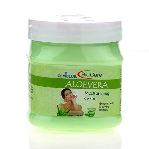 GEMBLUE BioCare Aloe Vera Body and Face Moisturising Cream with Aloe Vera Gel Extract (500 ml)