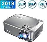 Excelvan Proyector Portátil 4500 Lúmenes Proyector de Video 1080P Full HD Cine en Casa Proyector Profesional 3D LCD Compatible con 1080P/USB/VGA/SD/HDMI/PS4/TV Box/Mobile/PC