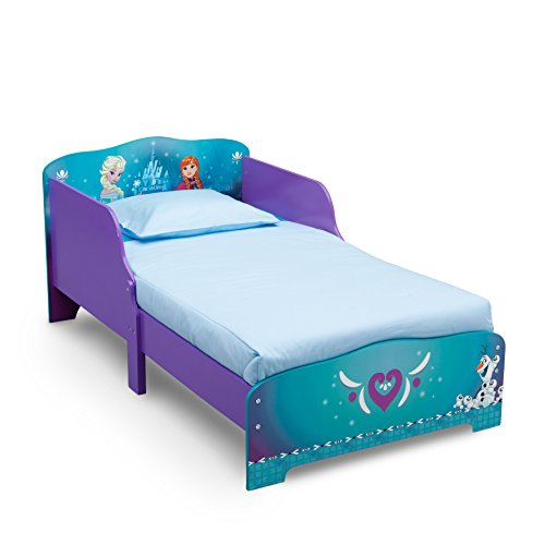 Wood Toddler Bed with Attached Guardrails, Headboard and Footboard