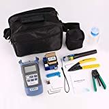 FTTH - Kit de herramientas de fibra óptica FC-6S, medidor de potencia óptica, cable pelacables, localizador visual, fallos, 5 mW, color negro