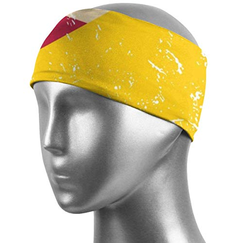 Meloci USA und Bosnien und Herzegowina Retro Flagge (2) Athletic Stirnbänder Mode Unisex Feuchtigkeit Wicking Sweatband Herren Haarband für Basketball