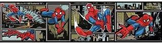 York Wallcoverings Marvel Utimate Spiderman DY0252BD Comic Wallpaper Border