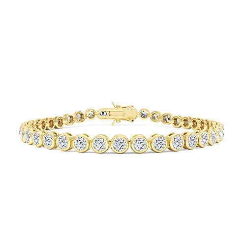 , colore: Bianco Infinity-Braccialetto in argento con zaffiro, 18 cm, colore: oro