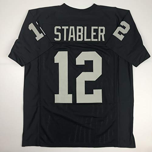 Unsigned Ken Stabler Oakland Black Custom Stitched Football Jersey Size Men's XL New No Brands/Logos