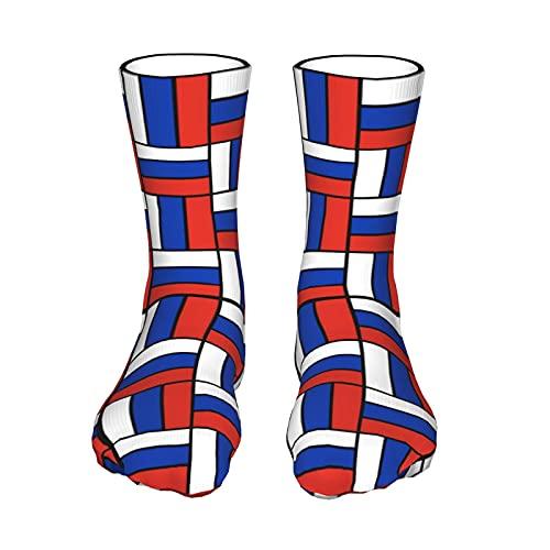 Russian flag Men and Women Sports Socks Soft Comfort Personality Fashion Socks