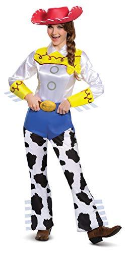 Disney Disguise Women's Jessie Deluxe Adult,Multi,M (8-10) Costume