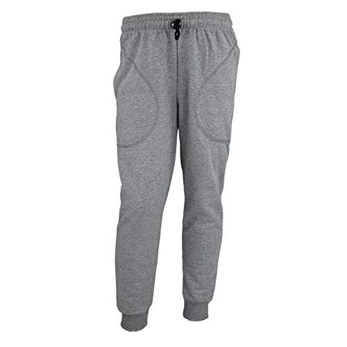TupTam Jungen Jogginghose mit Bündchen Unifarben, Farbe: Grau Meliert, Größe: 122