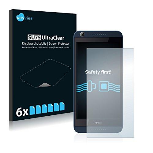 Savvies 6X Schutzfolie kompatibel mit HTC Desire 626G Dual Bildschirmschutz-Folie Ultra-transparent