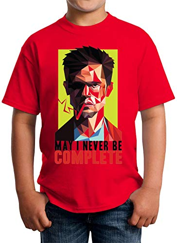 Fight Club Complete T-shirt unisex kinderen 5-13 jaar wit - rood - X-Small