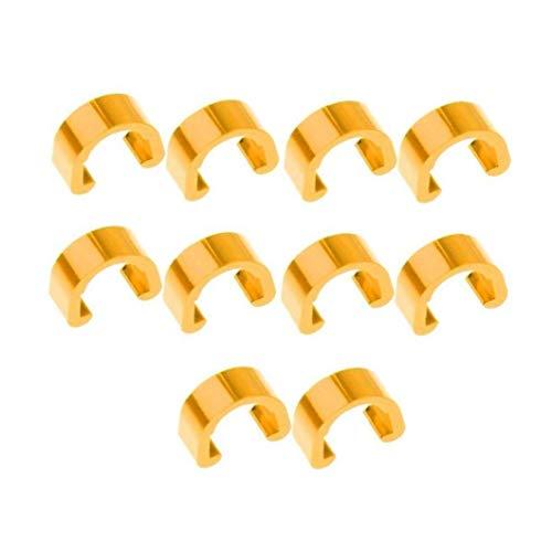 10 Stück Fahrradbremskabel C Clip MTB Fahrrad-Kabel C-Clips Fahrrad Buckles Bremsleitung Clips Buckle Für Brems Umwerfer Schaltkabel (gelb)
