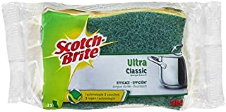 Scotch-Brite Eponge ultra vaisselle verte - Les 2 éponges