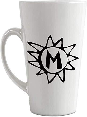 SanJIUCOM Taza de café con Leche Personalizada de cerámica CupM Sun Inicial...