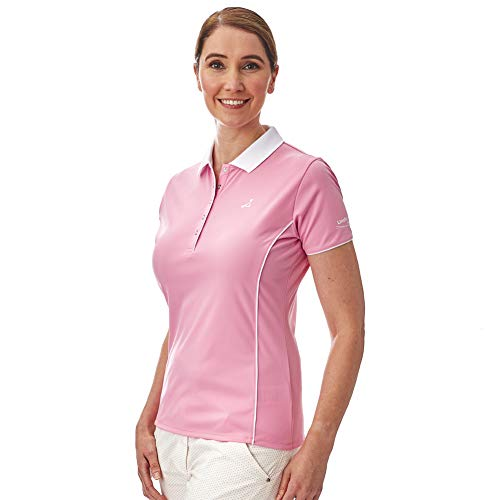 Under Par Golf Pro Quality Breathable Wicking 5 Styles 10 Colours Sleeved & Sleeveless Polo de Golf Mujer