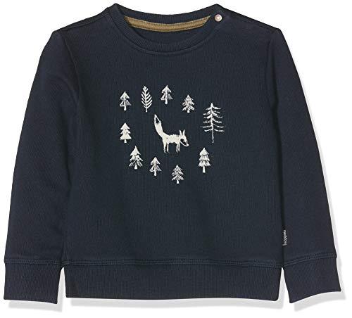 Noppies Baby-Jungen B Sweat ls Allendale Sweatshirt, Blau (Dark Sapphire P208), (Herstellergröße: 80)