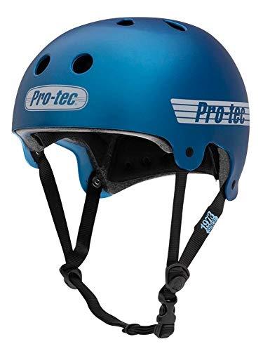 Pro-Tec Helmet Old School Cert Casco Skateboard Infantil, Juventud Unisex, Azul(Matte Metallic Blue), XS