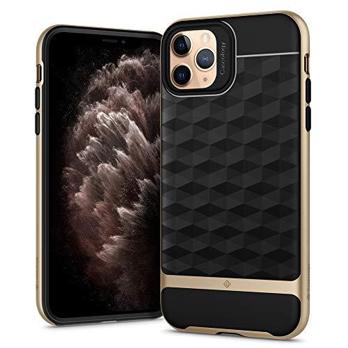 Hülleology Parallax Kompatibel mit iPhone 11 Pro Max Hülle, Gold 3D Muster Schutzschicht Stoßfest Hülle, Handyhülle iPhone 11 Pro Max (Gold)
