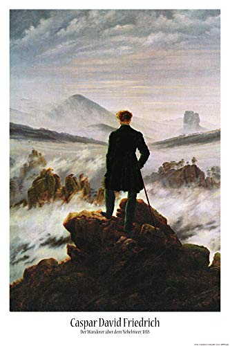 1art1 Caspar David Friedrich - Der Wanderer Im Nebelmeer, 1818 Poster 91 x 61 cm