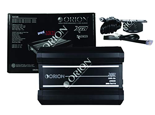 New Orion XTR2500.1Dz XTR Series 2500 Watts RMS Car Audio Amp CEA-2006 Compliant Power Ratings Xtreme Amplifier with Remote Bass Boost Control Knob Included (XTR2500.1D)