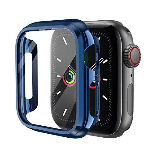 KIMOKU コンパチブル Apple Watch ケース 44mm 40mm PC 保護カバー アップルウォッチ series6/SE/5/4対応(44mm, ブルー)
