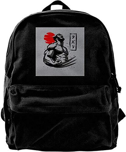 Homebe Mochila antirrobo Impermeable,Canvas Backpack X Men WOL-Verine Logan Claws Rucksack Gym Hiking Laptop Shoulder Bag Daypack for Men Women