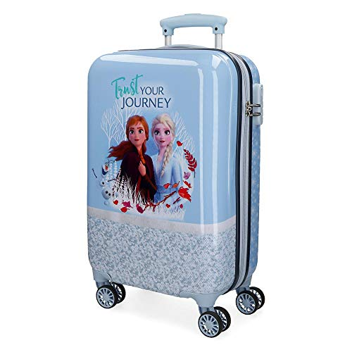 Disney Spirits of Nature Frozen 2 Maleta de cabina Azul 37x55x20 cms Rígida ABS Cierre combinación 32L 2,5Kgs 4 Ruedas Dobles Equipaje de Mano