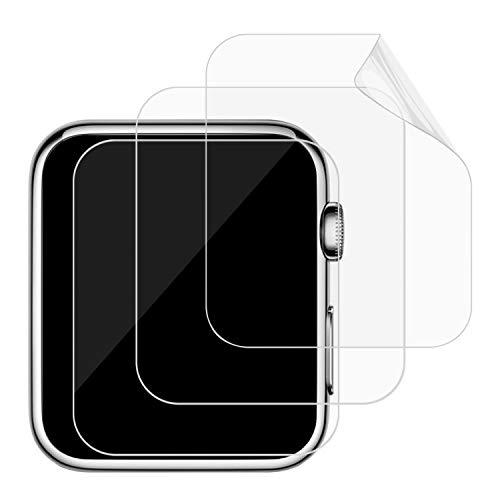 JETech Pellicola Protettiva Compatibile con Apple Watch 42mm Serie 1, 2 e 3, Ultra HD TPE, Pacco da 3