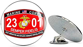 TG Graphics Marine Corps Military Basic Ammunition and EOD Officer MOS 2301 USMC US Marine Corps Steel Metal 0.75