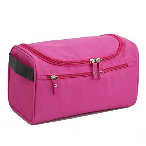 Trousse de maquillage de voyage pour fille - Sac de rangement à suspendre - Boîte de maquillage - Sac de rangement pour le bain - Imperméable - Rose