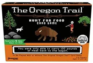 Pressman The Oregon Trail Card Game Bundled with one Collector Green/Gold Die … (Oregon Trail - Hunt for Food)