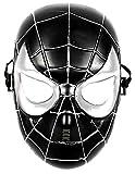Masque de costume d'homme araignée - déguisements pour enfants - halloween - carnaval - super héros - noir - 5/8 ans - idée cadeau originale spiderman