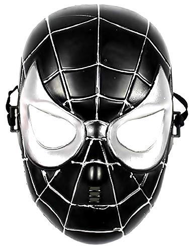 Máscara de disfraz de hombre araña - spiderman - disfraces para niños - halloween - carnaval - superhéroe - negro - 5/8 años - idea de regalo original spiderman