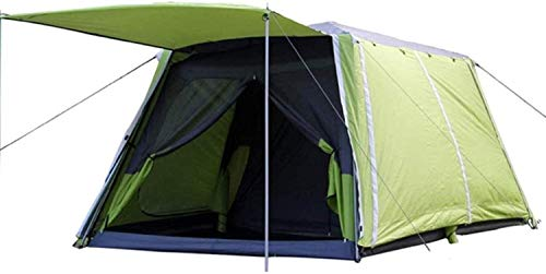 LAZ Camping Tent Large Waterproof Pop-up Tent 4/6/8 Human Cabin Tent with Sunshade Automatic Aluminum Pole Instant Setting