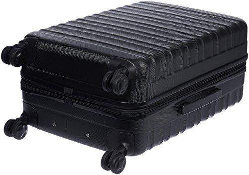 Amazon Basics - Valigia Trolley rigido con rotelle girevoli, 68 cm, Nero