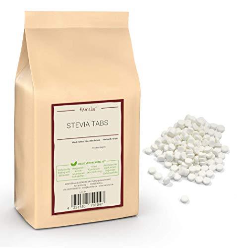 120g (2000 Stück) Stevia Tabs (Reb-A 97% Süße) - Süßstoff Tabletten aus deutscher Herstellung – die Zuckeralternative in biologisch abbaubarer Verpackung