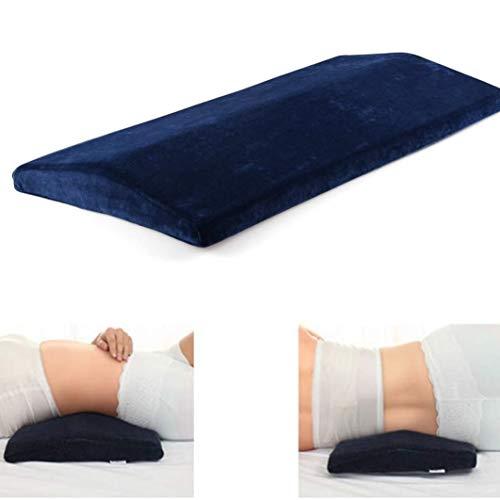 Almohada Embarazada, Almohada de Soporte Lumbar, Dormir Memoria Espuma Cojín Almohada Larga, Almohada Lumbar Parte Inferior de la Espalda para el Alivio del Dolor de Espalda Almohada Embarazo (Azul)