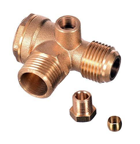 Rückschlagventil 1/2 x 1/2 (20mm x 20mm) Luftkompressor Messing Ventil Verbinder Werkzeug Luft Kompressor zum Verbinden