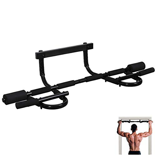 MUSCOACH Pull Up Bar for Doorway,Door Frame Pull-up Bar Body Workout,Multifunctional Portable Chin Up Bar No Screws Strength Training Bar Exercise Fitness