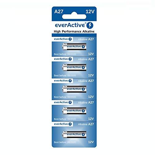 5 x A27 12V everActive Alkaline-Batterien A27 27A LR27A MN27 L828 Fernbedinung